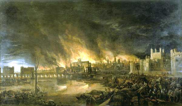 O Grande Incêndio de Londres em 1666