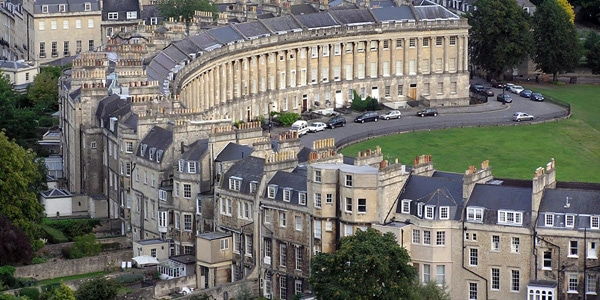 Royal Crescent em Bath, Inglaterra.
