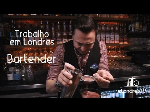 Video thumbnail for youtube video Vídeo: Trabalho em Londres | BARTENDER - eLondres.com