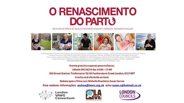 """Filme brasileiro """"O Renascimento do Parto"""" em Londres"""
