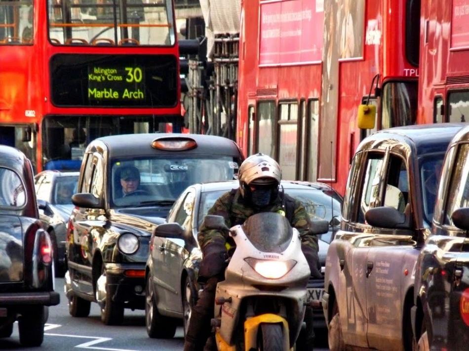 Dez maiores congestionamentos da Inglaterra estão em Londres
