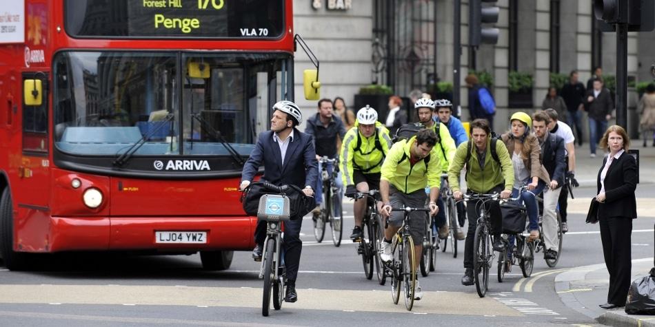 Número ciclistas em Londres é um quinto dos passageiros do metrô