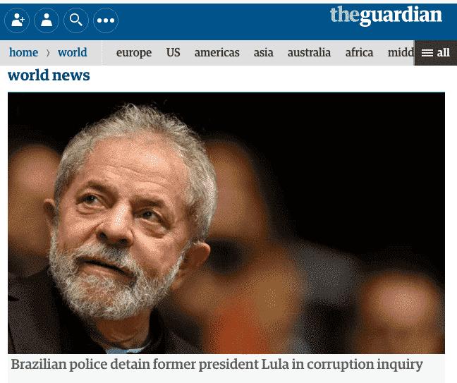 Imprensa britânica repercute operação da PF contra Lula
