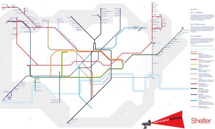 Apenas 15 estações de Londres estão em áreas acessíveis para alugar