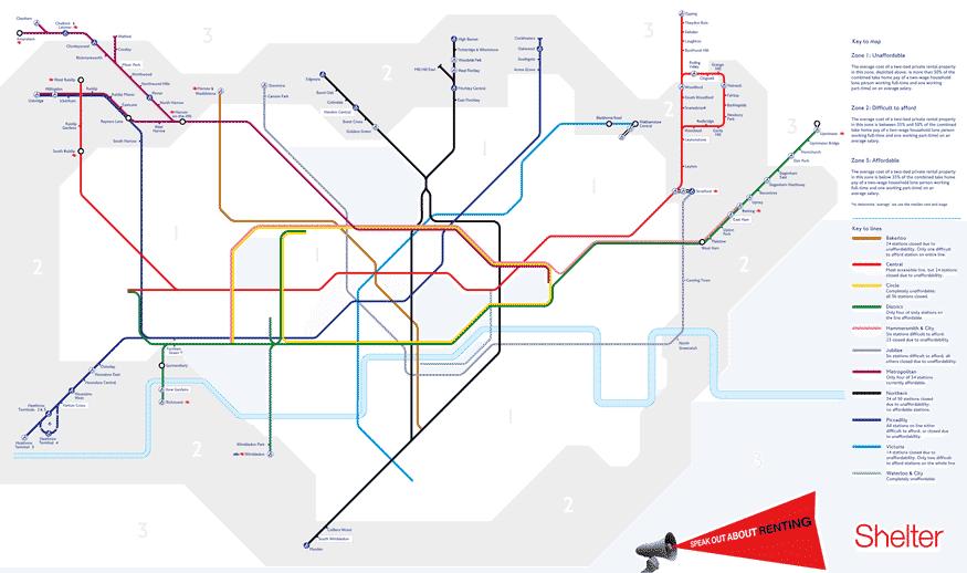 Só 15 estações de Londres estão em áreas comercializáveis
