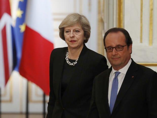 François Hollande aceita cronograma de May para o Brexit