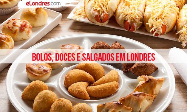 Bolos, doces e salgados brasileiros em Londres
