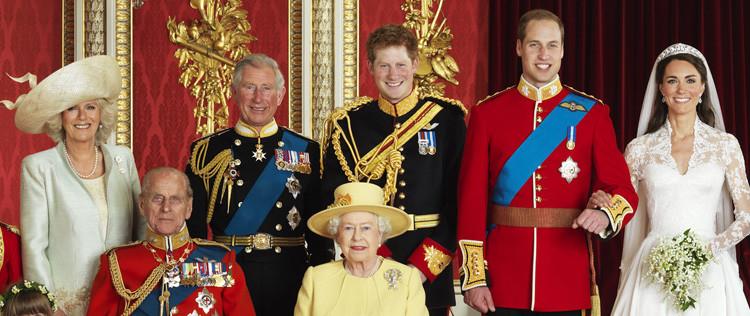 Família Real Britânica - Membros